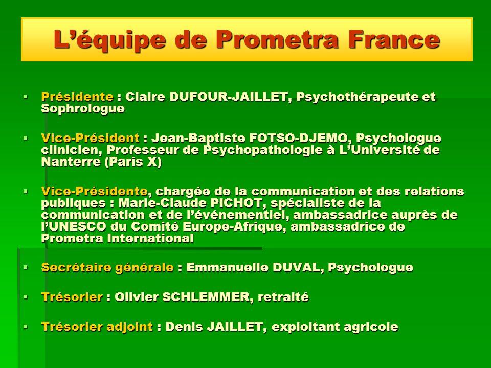 L'équipe de Prometra France