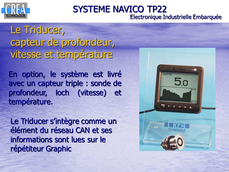 Le Triducer, capteur de profondeur, vitesse et température