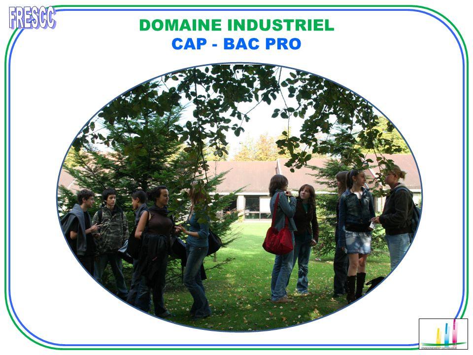 DOMAINE INDUSTRIEL CAP - BAC PRO