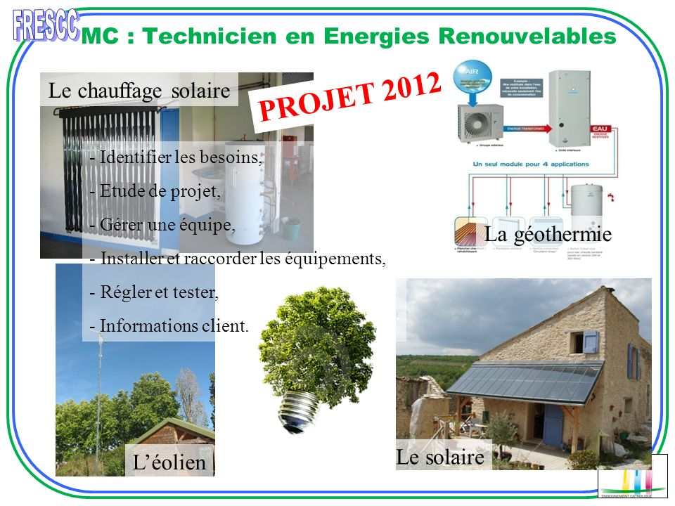 MC : Technicien en Energies Renouvelables
