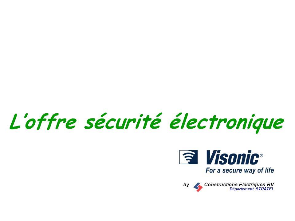 L'offre sécurité électronique