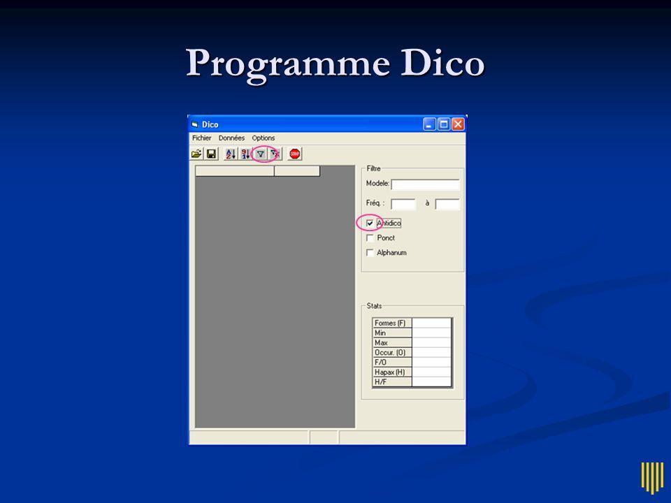 Programme Dico