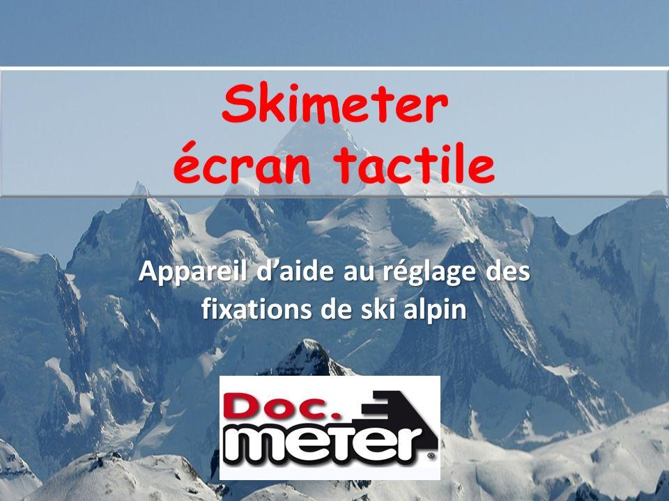 Skimeter écran tactile