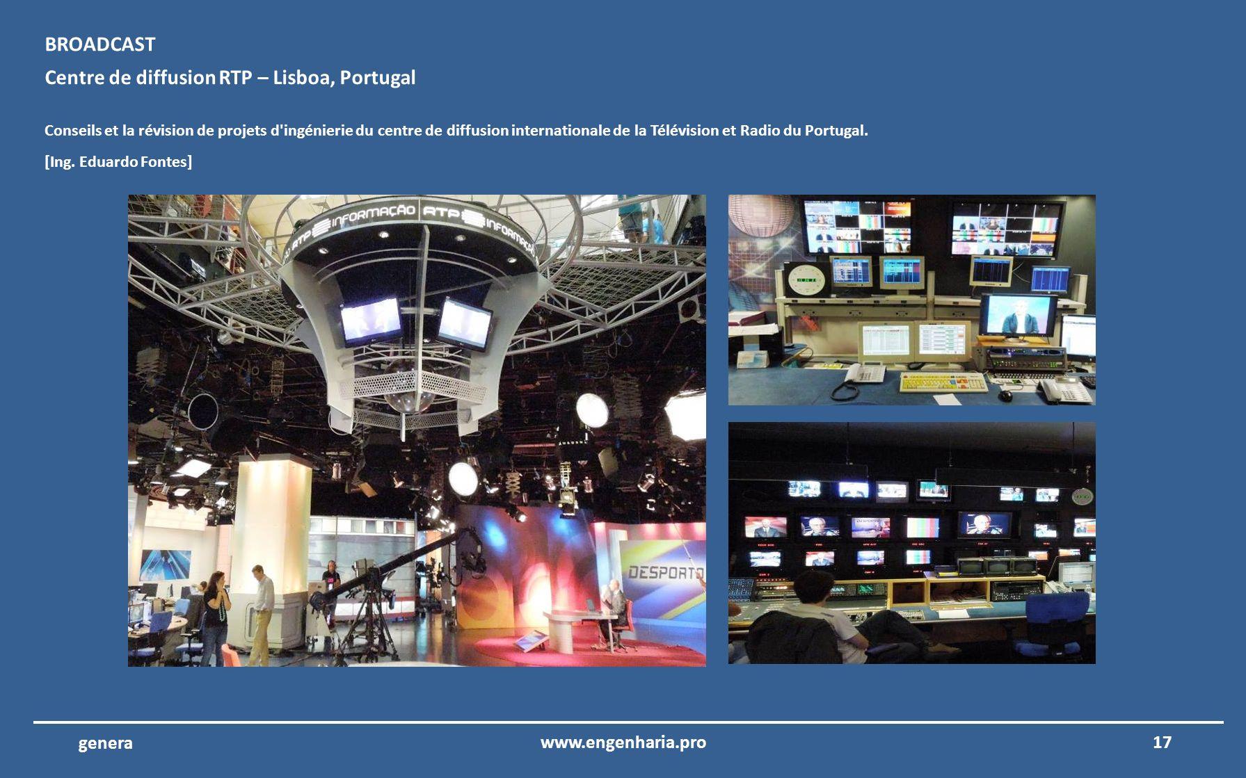Centre de diffusion RTP – Lisboa, Portugal