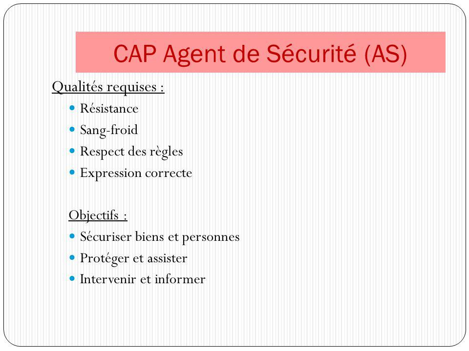 CAP Agent de Sécurité (AS)