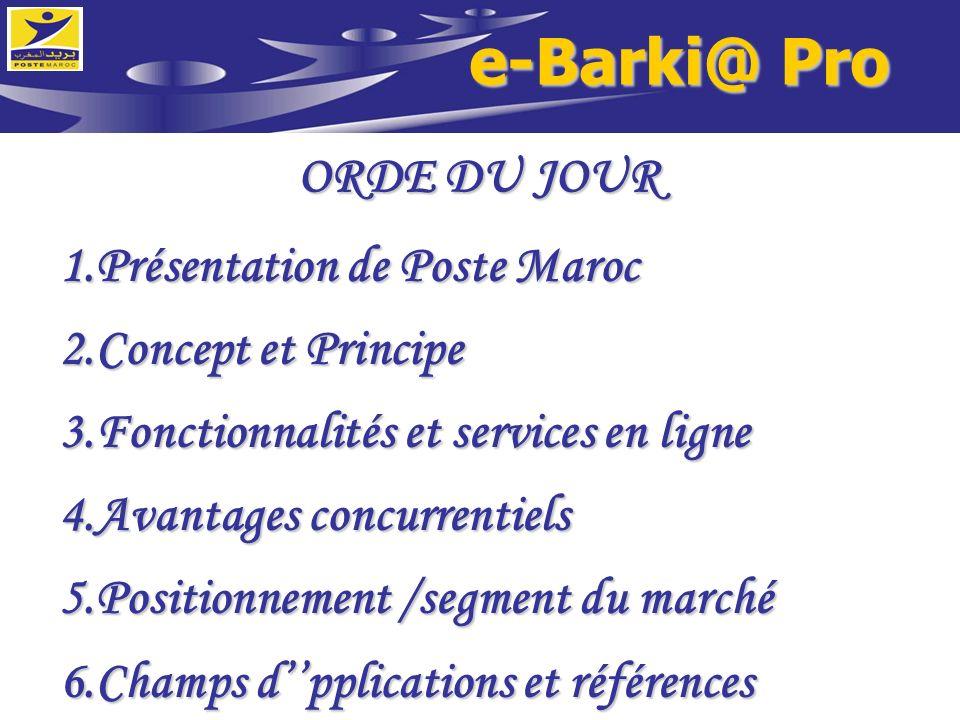 e-Barki@ Pro ORDE DU JOUR Présentation de Poste Maroc