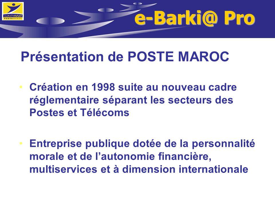 Présentation de POSTE MAROC