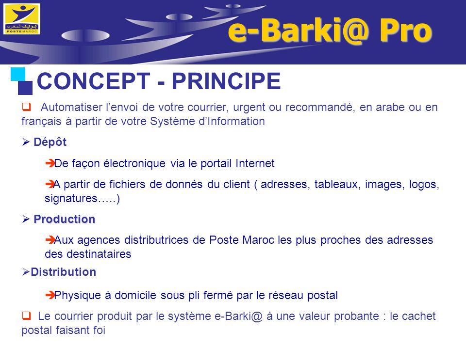 e-Barki@ Pro CONCEPT - PRINCIPE