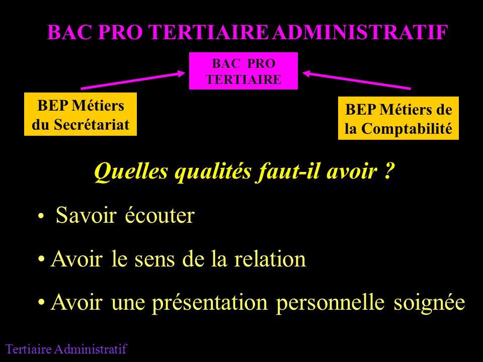 tertiaire administratif