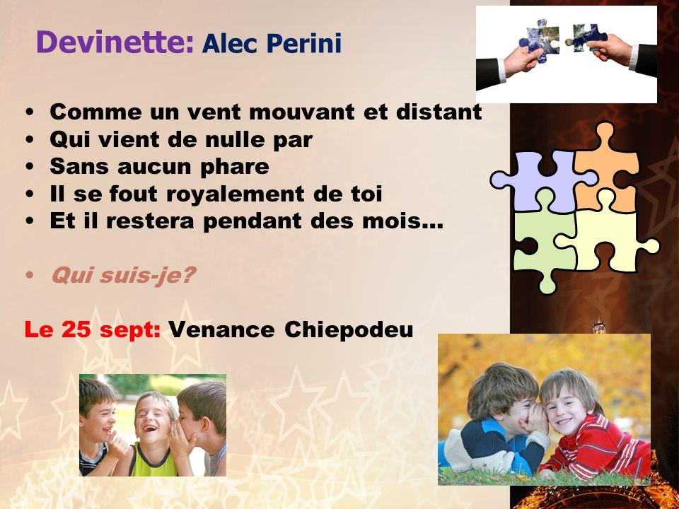 Devinette: Alec Perini