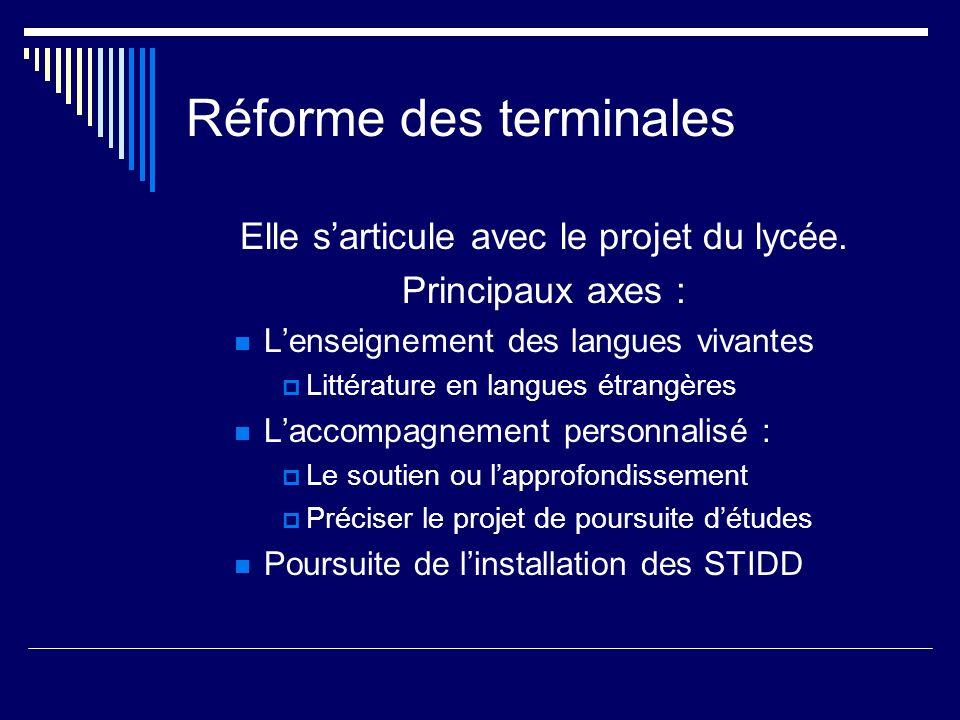Réforme des terminales