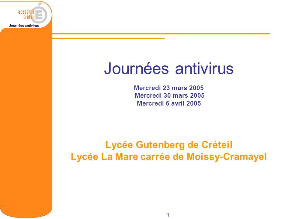 Lycée Gutenberg de Créteil Lycée La Mare carrée de Moissy-Cramayel