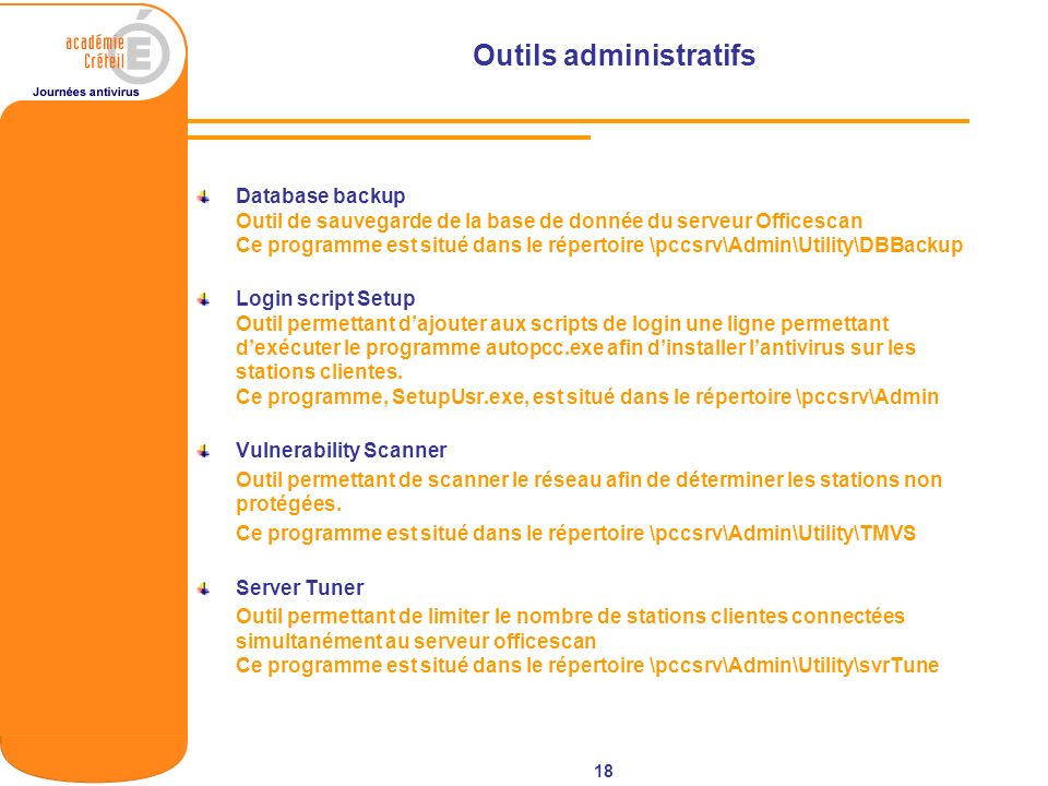 Outils administratifs