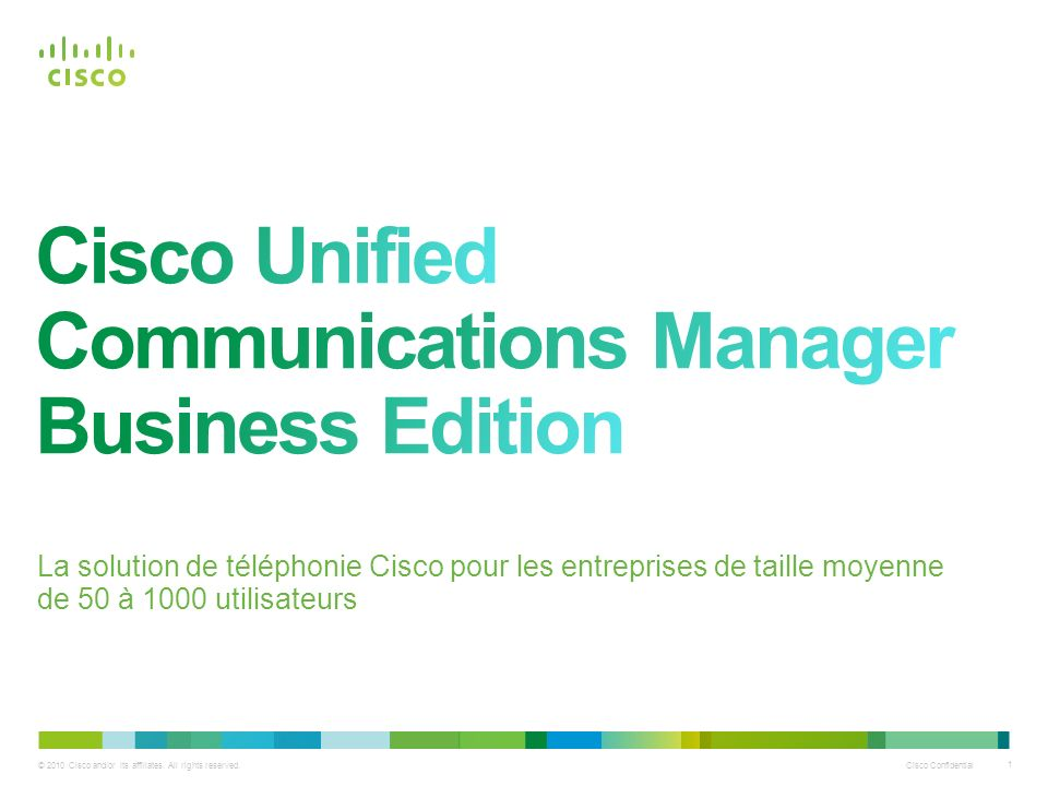Cisco Unified Communications Manager Business Edition