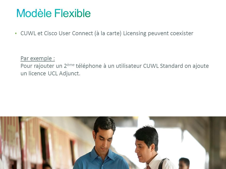 Modèle Flexible CUWL et Cisco User Connect (à la carte) Licensing peuvent coexister.