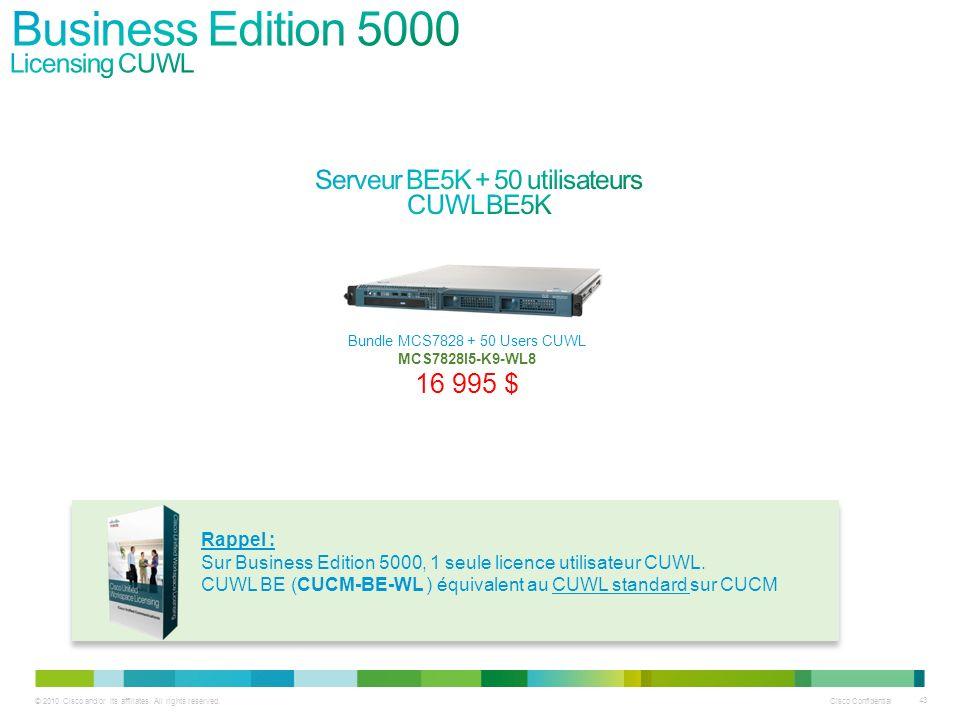 Serveur BE5K + 50 utilisateurs CUWL BE5K