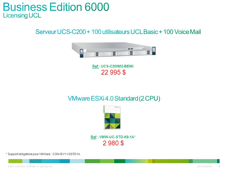 Business Edition 6000 Licensing UCL