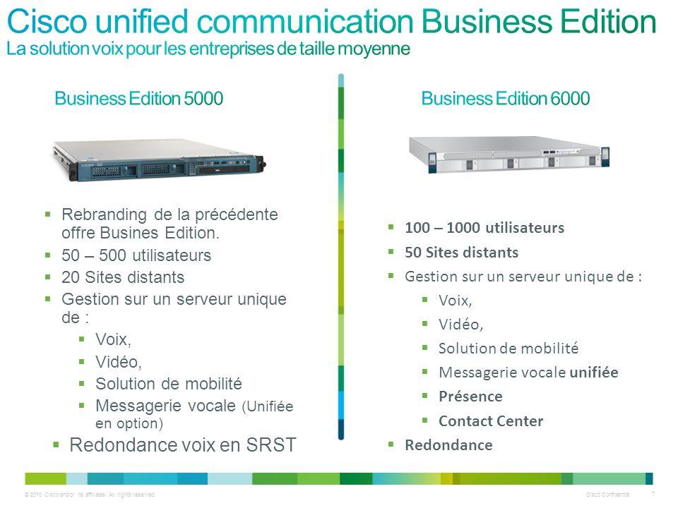 Cisco unified communication Business Edition La solution voix pour les entreprises de taille moyenne