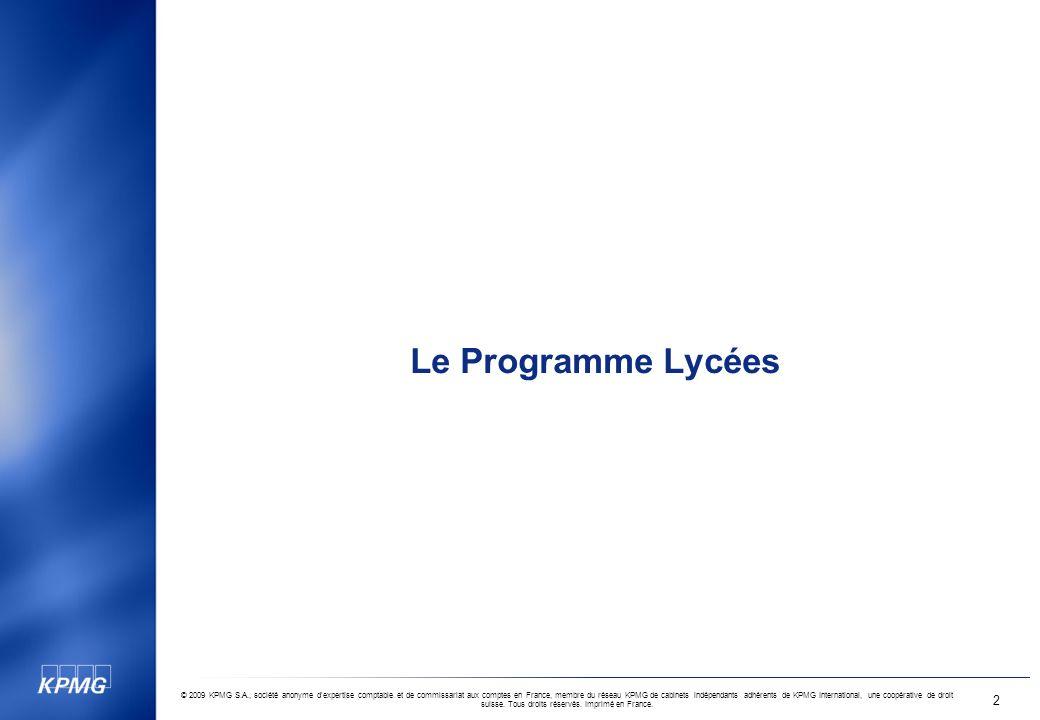 Le Programme Lycées