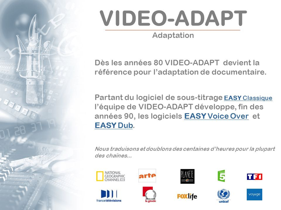 VIDEO-ADAPT Adaptation