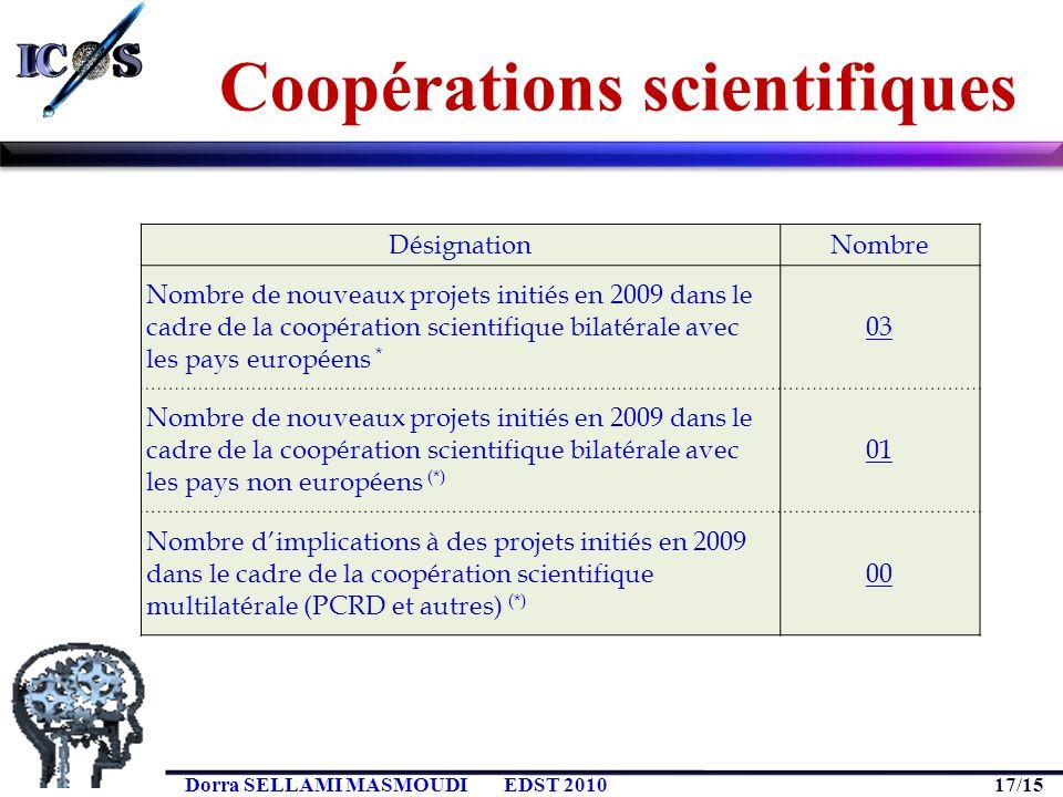 Coopérations scientifiques