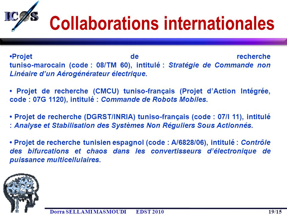 Collaborations internationales