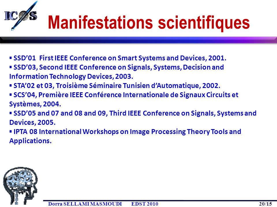 Manifestations scientifiques