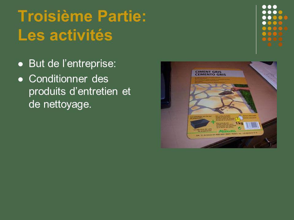 Troisième Partie: Les activités
