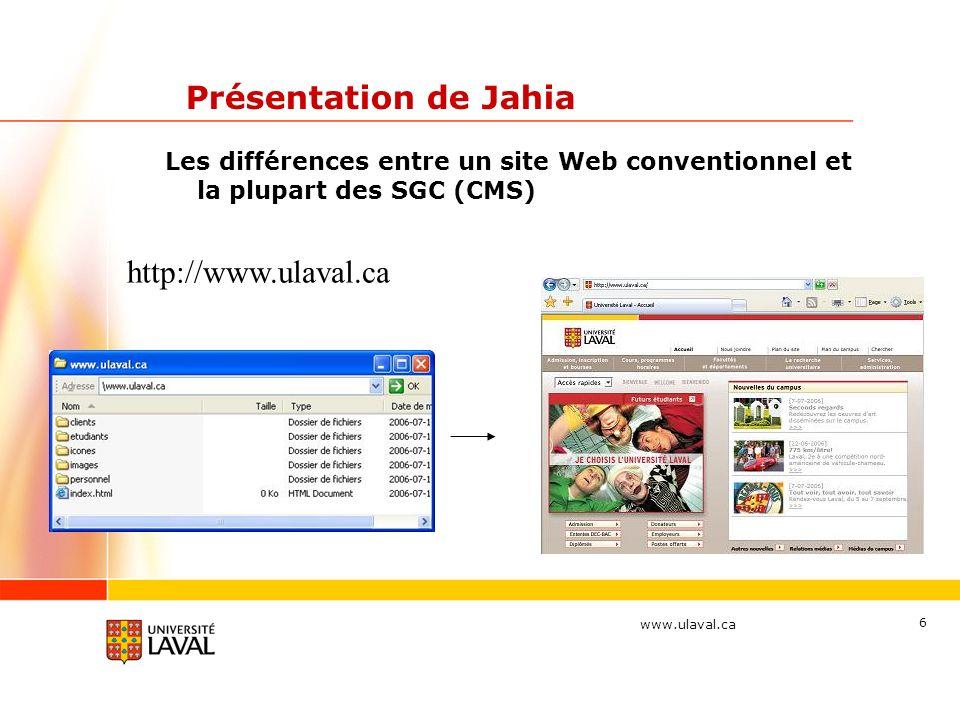 Présentation de Jahia http://www.ulaval.ca