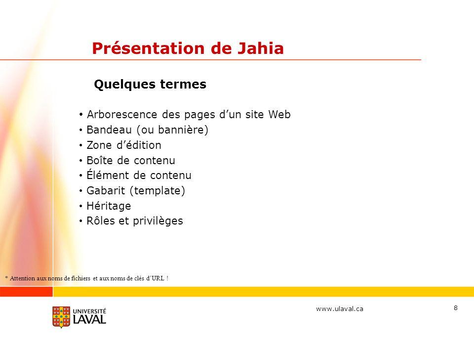 Présentation de Jahia Arborescence des pages d'un site Web