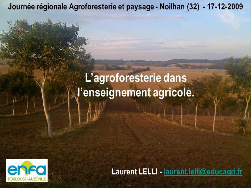 L'agroforesterie dans l'enseignement agricole.