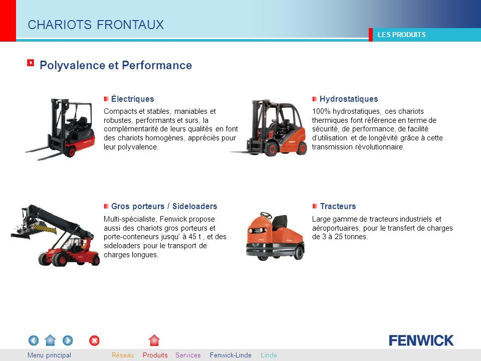 CHARIOTS FRONTAUX Polyvalence et Performance Électriques