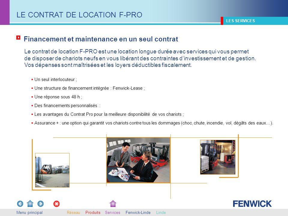 LE CONTRAT DE LOCATION F-PRO