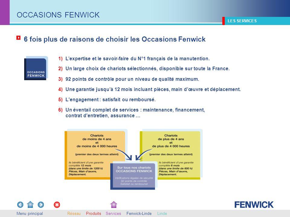 OCCASIONS FENWICK LES SERVICES. 6 fois plus de raisons de choisir les Occasions Fenwick.