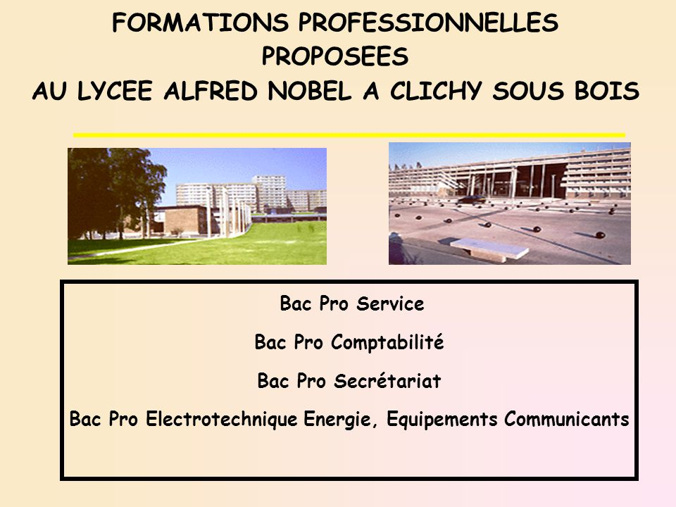 FORMATIONS PROFESSIONNELLES PROPOSEES