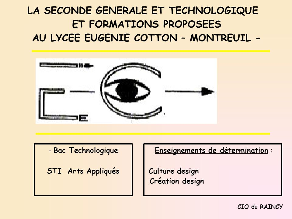 LA SECONDE GENERALE ET TECHNOLOGIQUE ET FORMATIONS PROPOSEES
