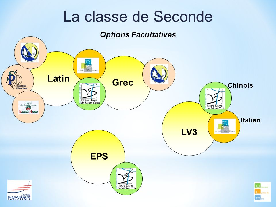 La classe de Seconde Latin Grec LV3 EPS Options Facultatives Chinois