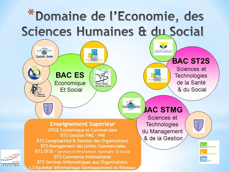 Domaine de l'Economie, des Sciences Humaines & du Social
