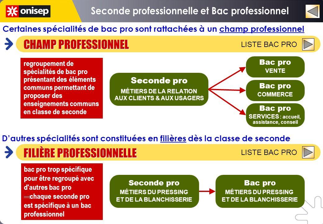 Seconde professionnelle et Bac professionnel AUX CLIENTS & AUX USAGERS
