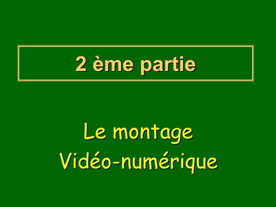 Le montage Vidéo-numérique