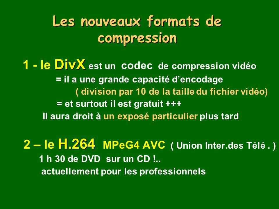 Les nouveaux formats de compression