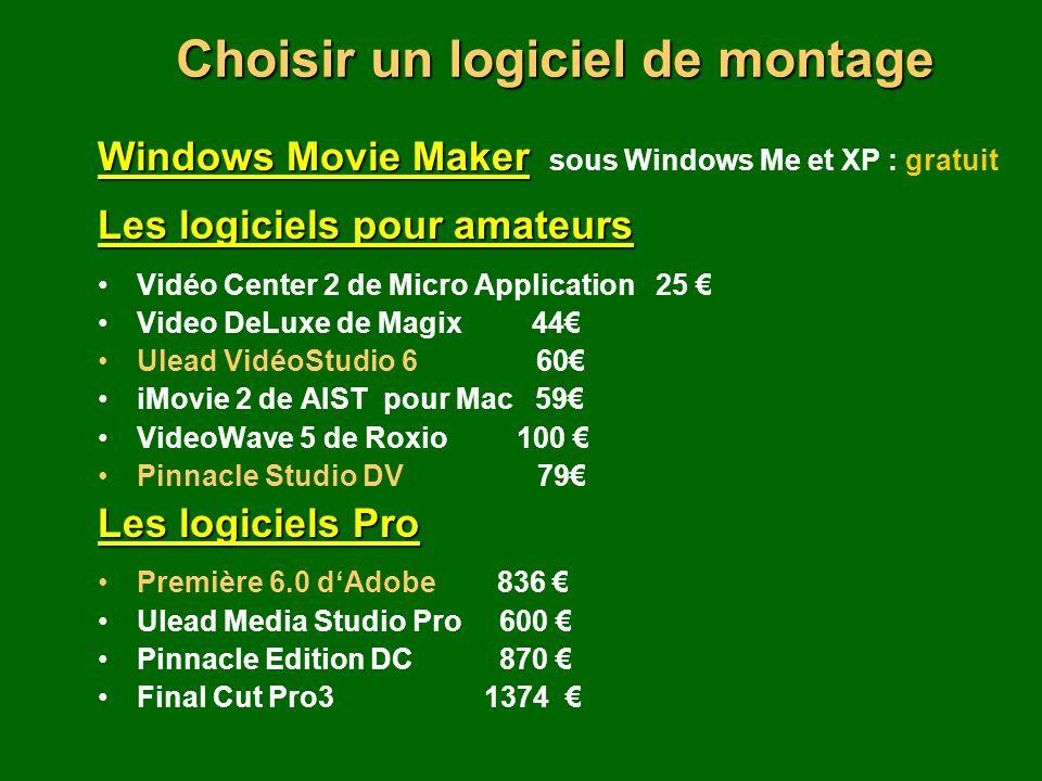 Choisir un logiciel de montage