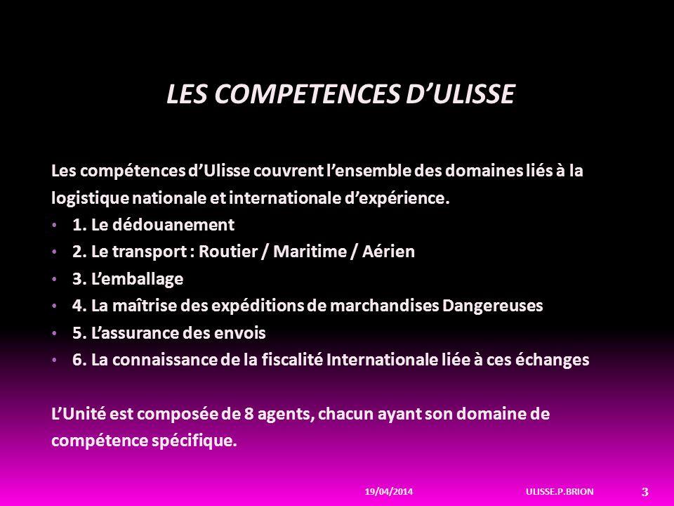 LES COMPETENCES D'ULISSE