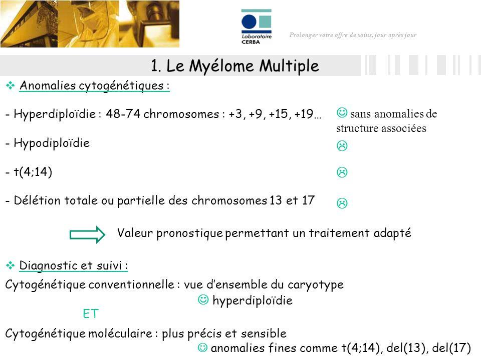1. Le Myélome Multiple  sans anomalies de structure associées 