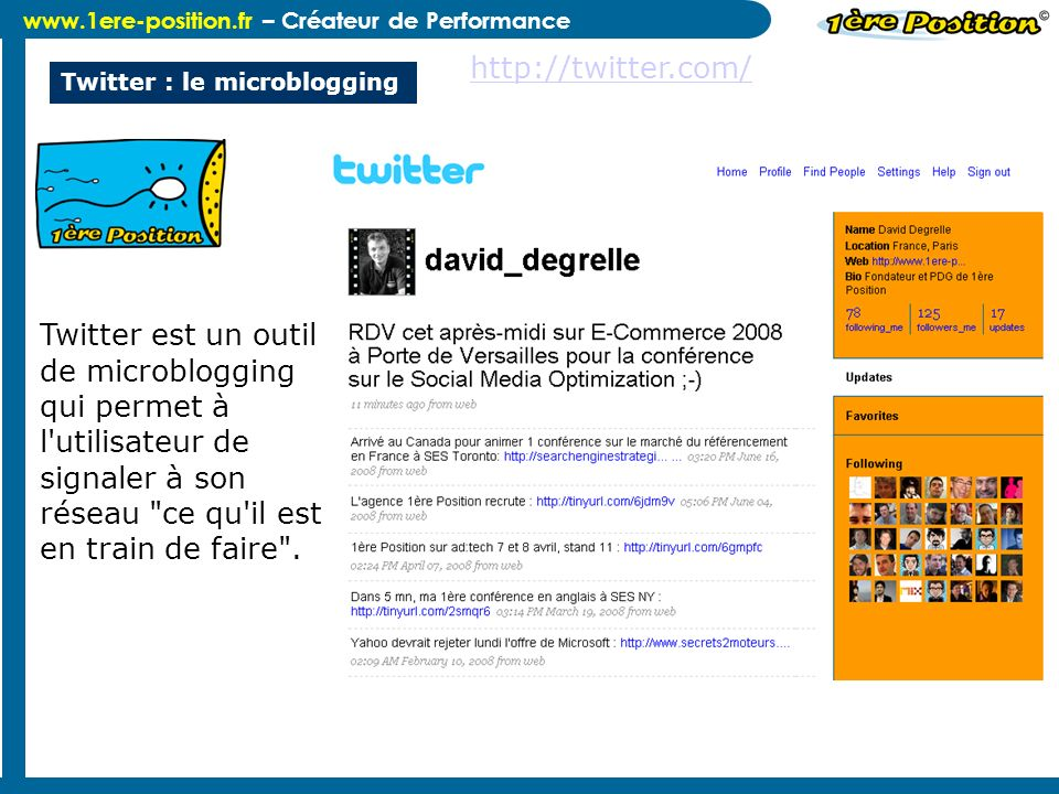 Twitter : le microblogging