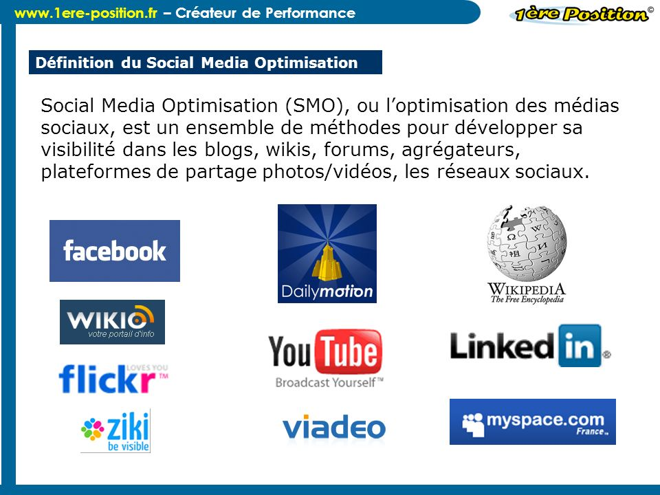 Définition du Social Media Optimisation