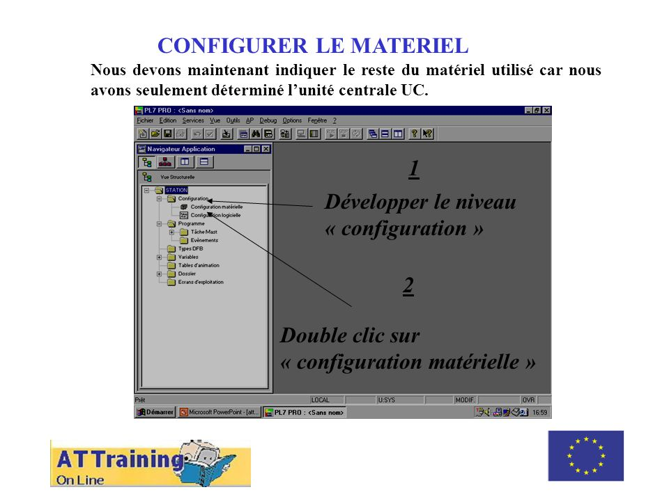 CONFIGURER LE MATERIEL ROLE DES DIFFERENTS ELEMENTS