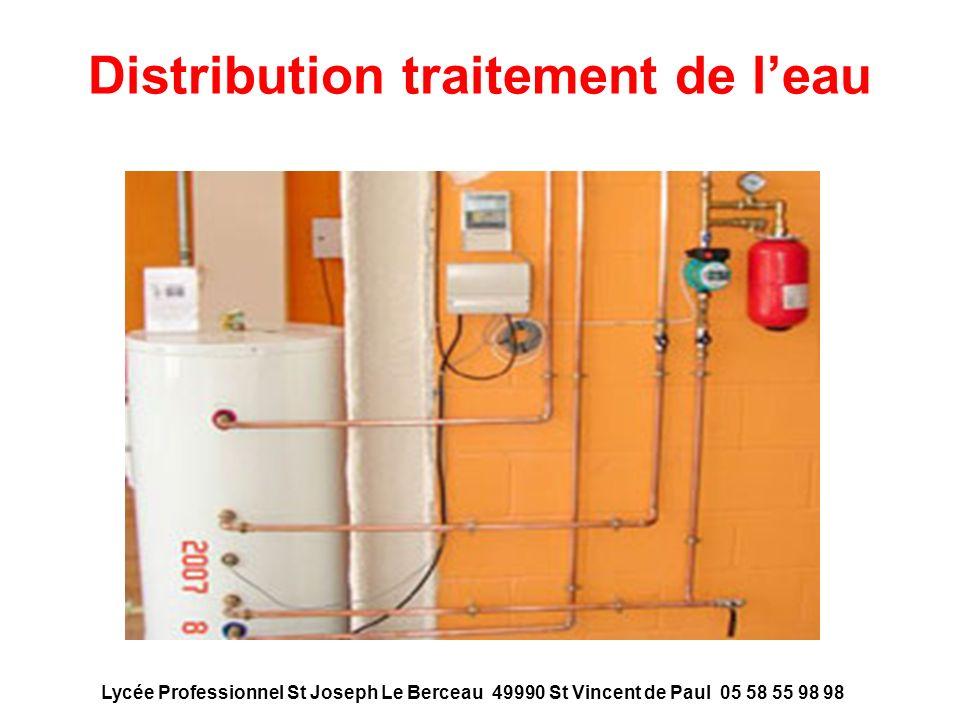Distribution traitement de l'eau