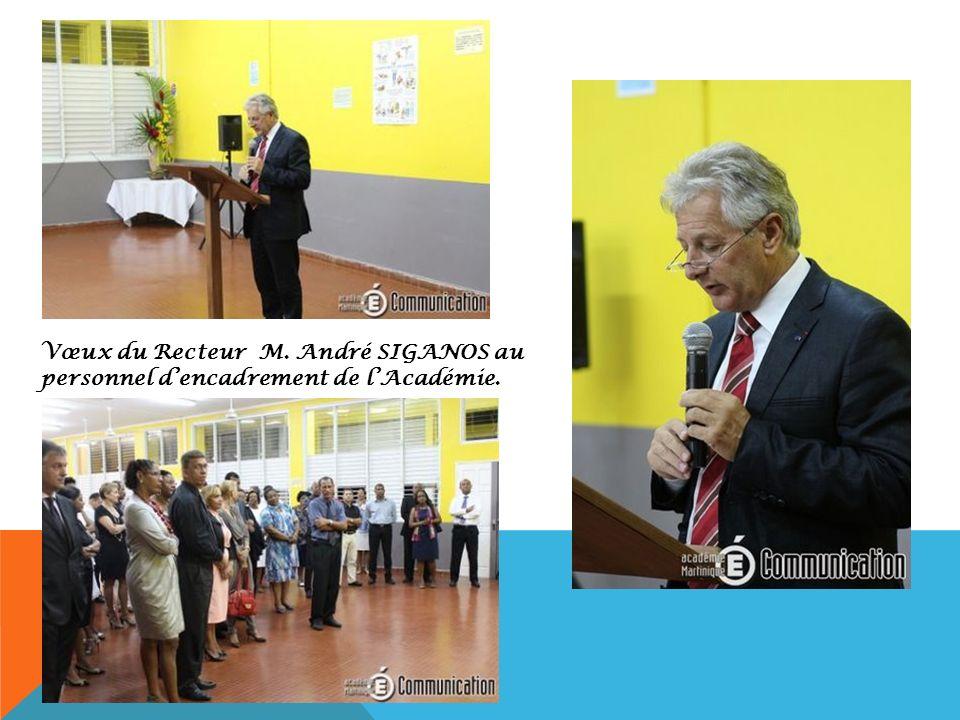 Vœux du Recteur M. André SIGANOS au personnel d'encadrement de l'Académie.