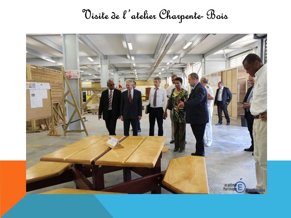 Visite de l'atelier Charpente- Bois